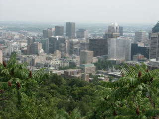[View from Mont Royal on Montreal]